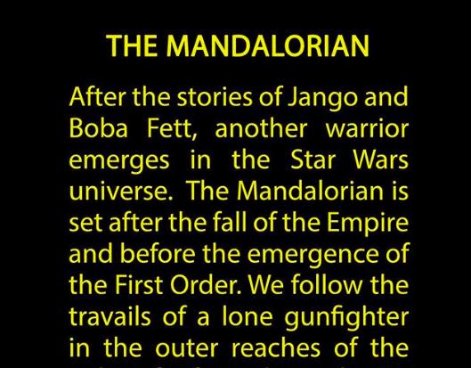 スターウォーズ実写ドラマ「The Mandalorian(マンダロリアン)」に決定!ジョン・ファヴロー監督がインスタグラムに投稿!!